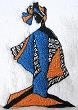 Thumbnail of African towel Black Woman African Art B