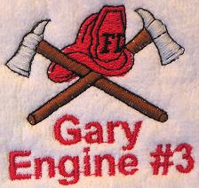 Thumbnail of Fireman towel Firemen personalized embroidery