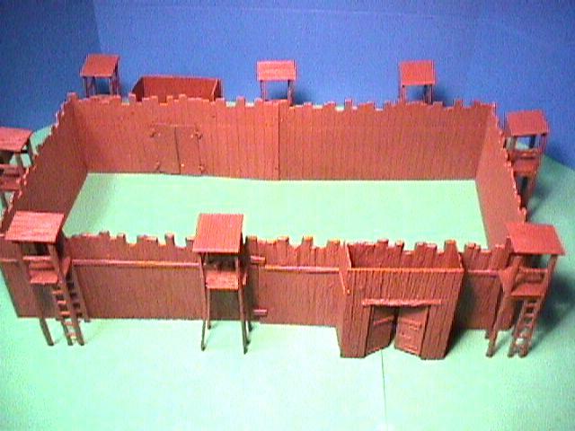 ACW Plastic Confederate Andersonville Prison Camp Playset