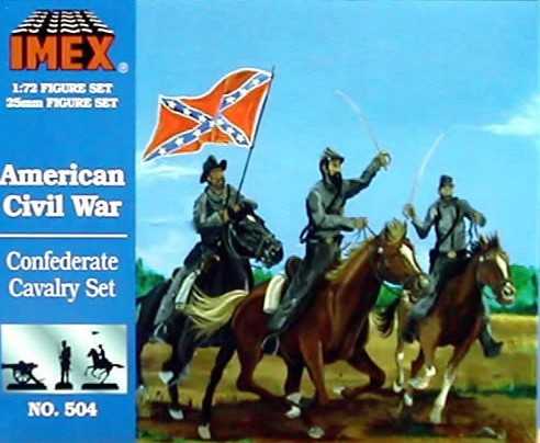 Imex 1/72nd ACW Confederate Cavalry Plastic Figures Set No. 504