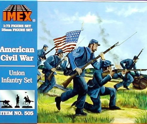 Imex 1/72nd ACW Union Infantry Plastic Figures Set no. 505