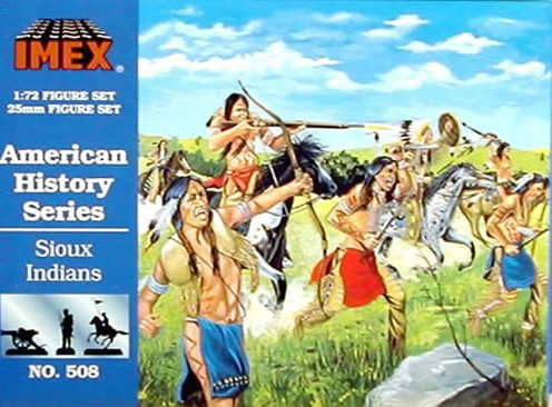 Imex 1/72nd Western Sioux Indians Plastic Figures Set No. 508