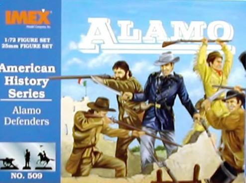 Imex 1/72nd Alamo Defenders Plastic Figures Set No. 509