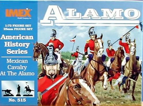 Imex 1/72nd Alamo Mexican Cavalry Plastic Figures Set No. 515