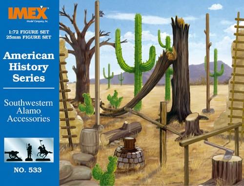 Imex 1/72nd Alamo Western Accessory Plastic Set No. 533