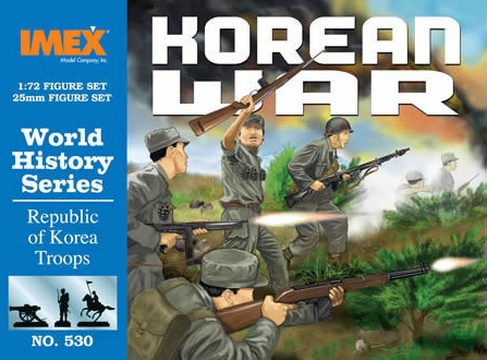 Imex 1/72 Korean War Republic Of Korea Troops Plastic Figures Set No. 530