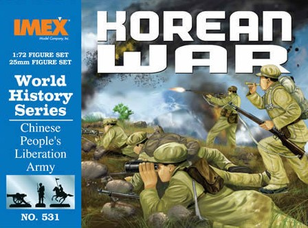 Imex 1/72 Korean War Chinese Troops Plastic Figures Set No. 531