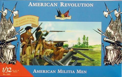 Imex 1/32 American Revolution American Militia Plastic Figures Set No. 3201