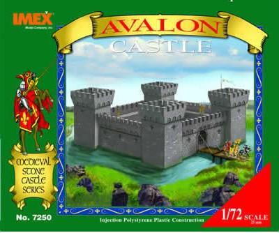 Imex 1/72 Plastic Medieval AVALON Castle Boxed Set No. 7250
