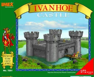 Imex 1/72 Plastic Medieval IVANHOE Castle Boxed Set No. 7251