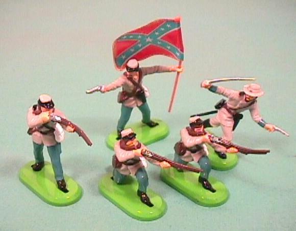 Britains Detail ACW Plastic Confederate Infantry Figures Set