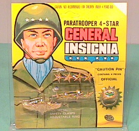 Vintage Plastic Toy Soldiers PARATROOPER 4-Star Insignia Set MOC