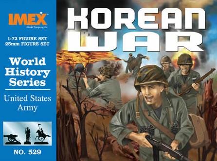 Imex 1/72 Korean War US Army Plastic Figures Set No. 529