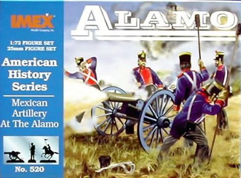Imex 1/72 Alamo Mexican Artillery Plastic Figures Set No. 520