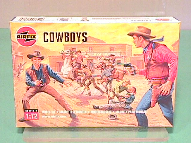 Airfix 1/72nd Scale Western Cowboys Plastic Figures Set
