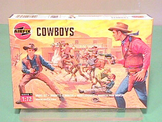 Airfix 1/72nd Scale Western Cowboys Plastic Figures Set