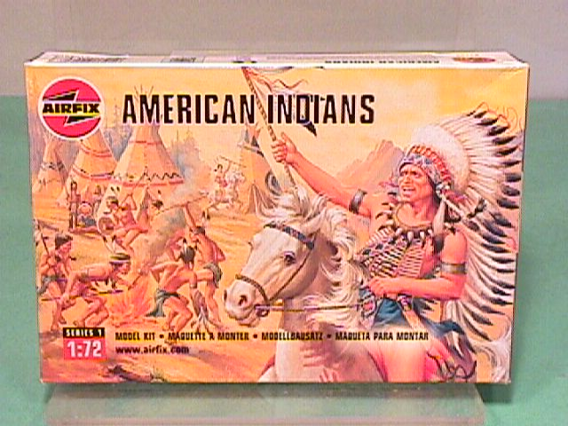Airfix 1/72nd Scale Western Indians Plastic Figures Set