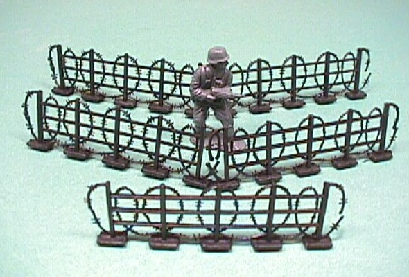 5 Pc Black Plastic Barbed Wire Fences Set