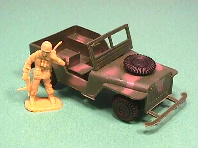 Army WWII Willys Style Green Camo Plastic Jeep