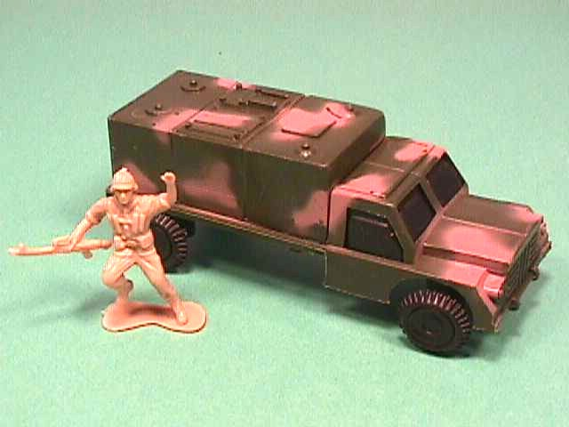 Army Green Camo Plastic Supply Truck