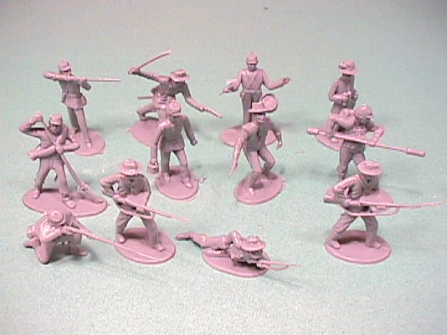 ACW Action Pack Confederate Plastic Soldiers Set