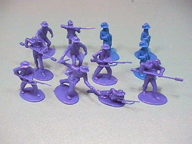 ACW Action Pack Plastic Union Soldiers Set