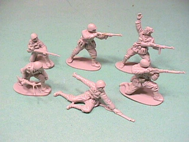 CTS 1/32nd Scale World War II Italian Infantry Plastic Soldiers Set
