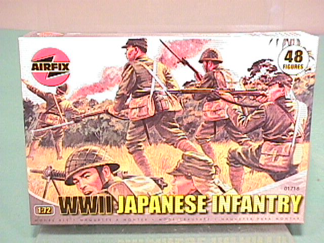 Airfix 1/72nd Scale WWII Japanese Infantry Plastic Soldiers Set