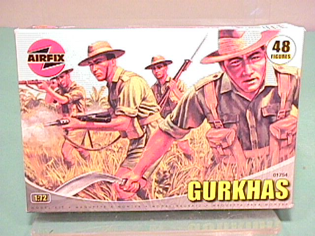 Airfix 1/72nd Scale WWII Gurkhas Infantry Plastic Soldiers Set