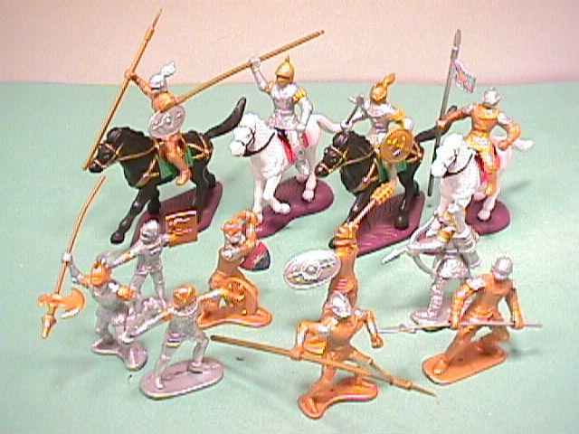 Medieval Russian Knights Plastic Figures Set No. 37
