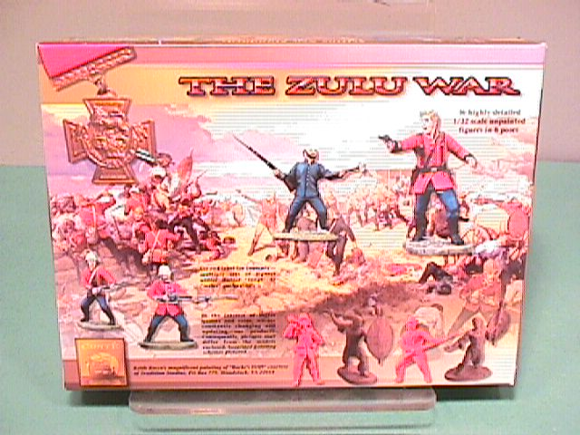 Conte ZULU WAR Zulus Warriors Plastic Figures Set Three