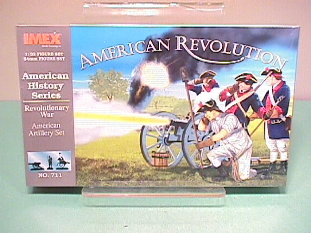 Imex 1/32nd Scale British Rev War American Artillery Plastic Soldier Set No.711