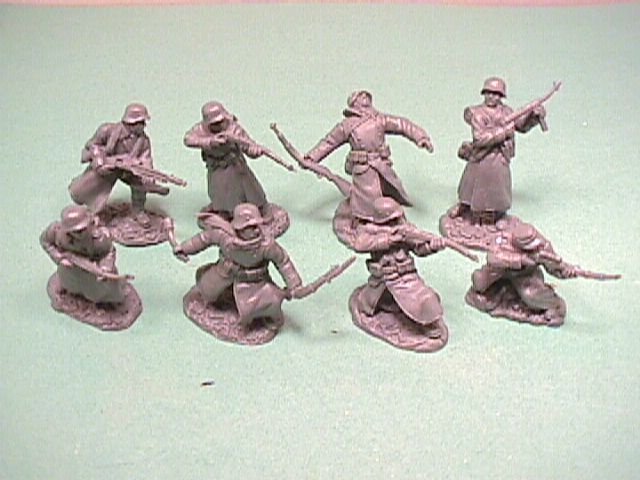 TSSD 1/32nd Scale World War II Russian Infantry Plastic Soldiers Set