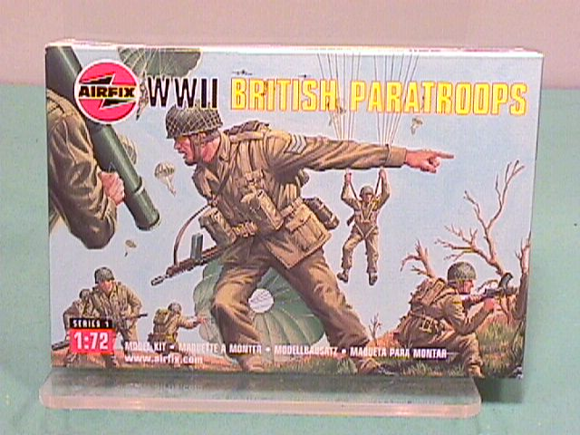 Airfix 1/72nd Scale British WWII Paratroopers Plastic Soldiers Set