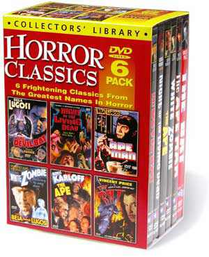 Thumbnail of Horror Classics - Lugosi - Price - Karloff DVD 6-Pack New Sealed