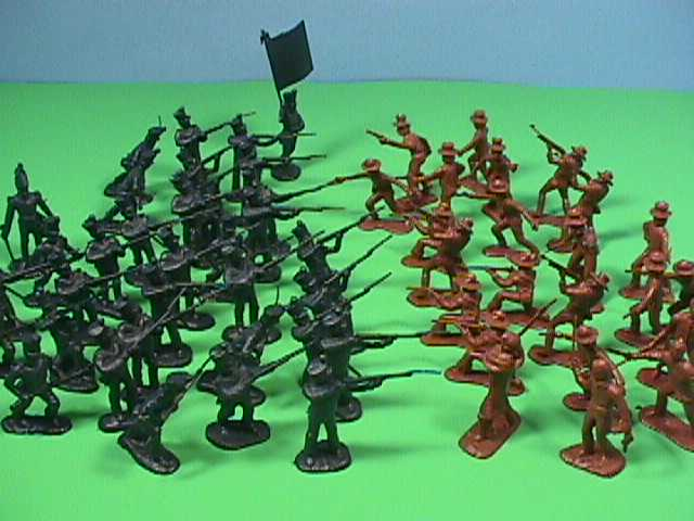 CTS Classic Toy Soldiers 1/32nd Scale Plastic Alamo Mexican Infantry Set 102