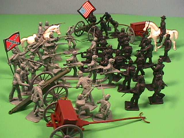Americana American Civil War Plastic Cannons & Soldiers Set