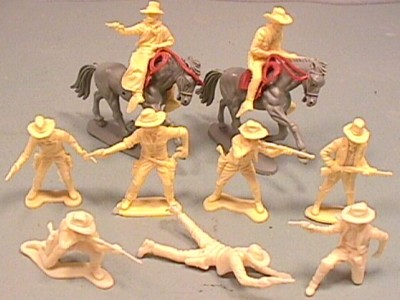 Thumbnail of Plastic Airfix Style Western Cowboys Set