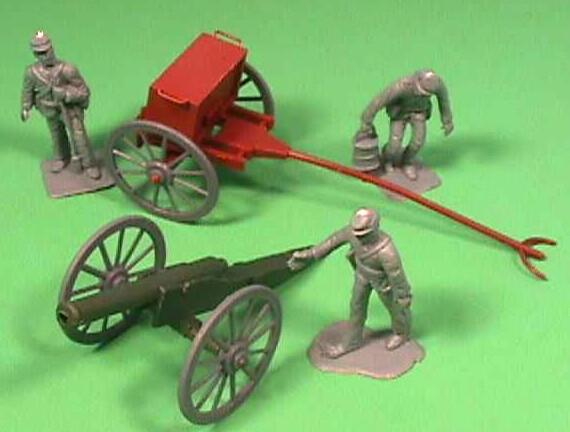 Americana Plastic Civil War Cannon With Limber 12 Pc Set