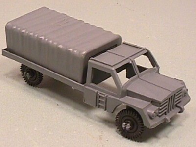 Grey Plastic Army Troop Truck
