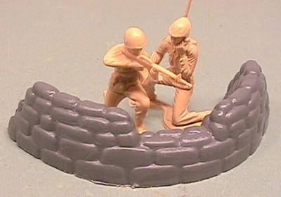 Grey Plastic Semi Round Sandbag Position #2