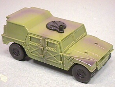 Hard Plastic Green Army Style Hummer