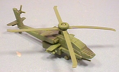 Hard Plastic Apache Style Attack Helicopter