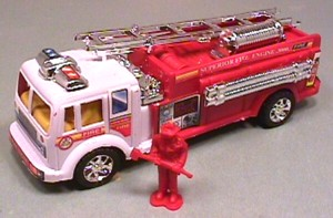 Hard Plastic Red Fire Truck