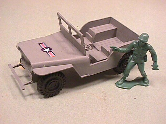 Grey Plastic Willys Style Army Jeep