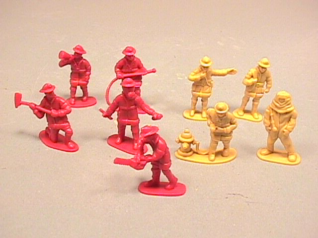 Fire Fighters Set Of 48 Plastic Figures