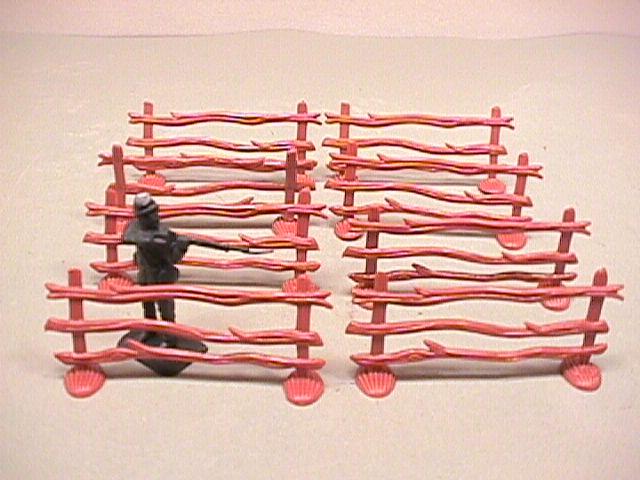 Split Rail Fences Sections 8 Plastic Pieces