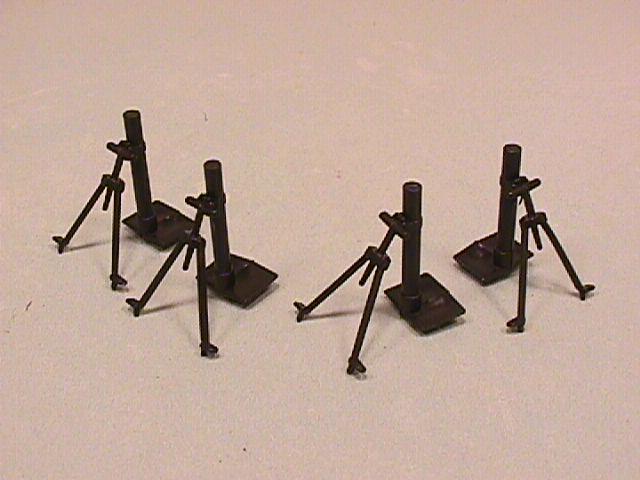 BMC Set of 4 Plastic Army Mortars