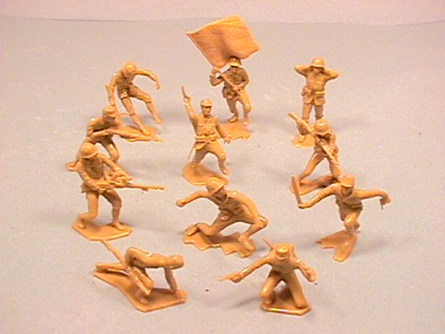 Marx Plastic Recast World War II Set of 20 Japanese Soldiers