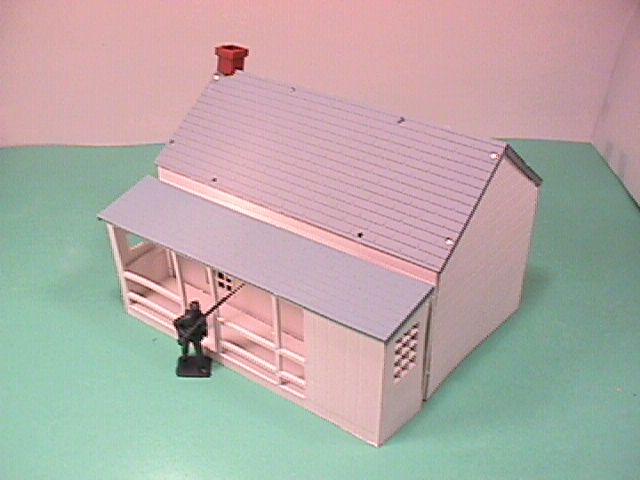 American Civil War BMC White Plastic Headquarters Building